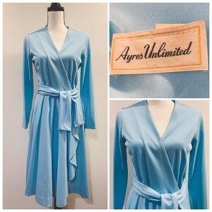 Vtg 70's Disco Wrap Dress